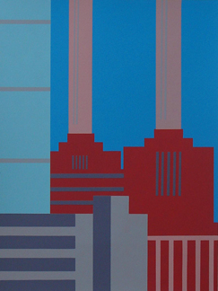 View from Lavender Hill - screenprint