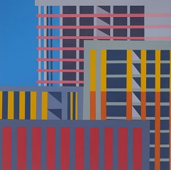 Construction 1 2020, Acrylic on board